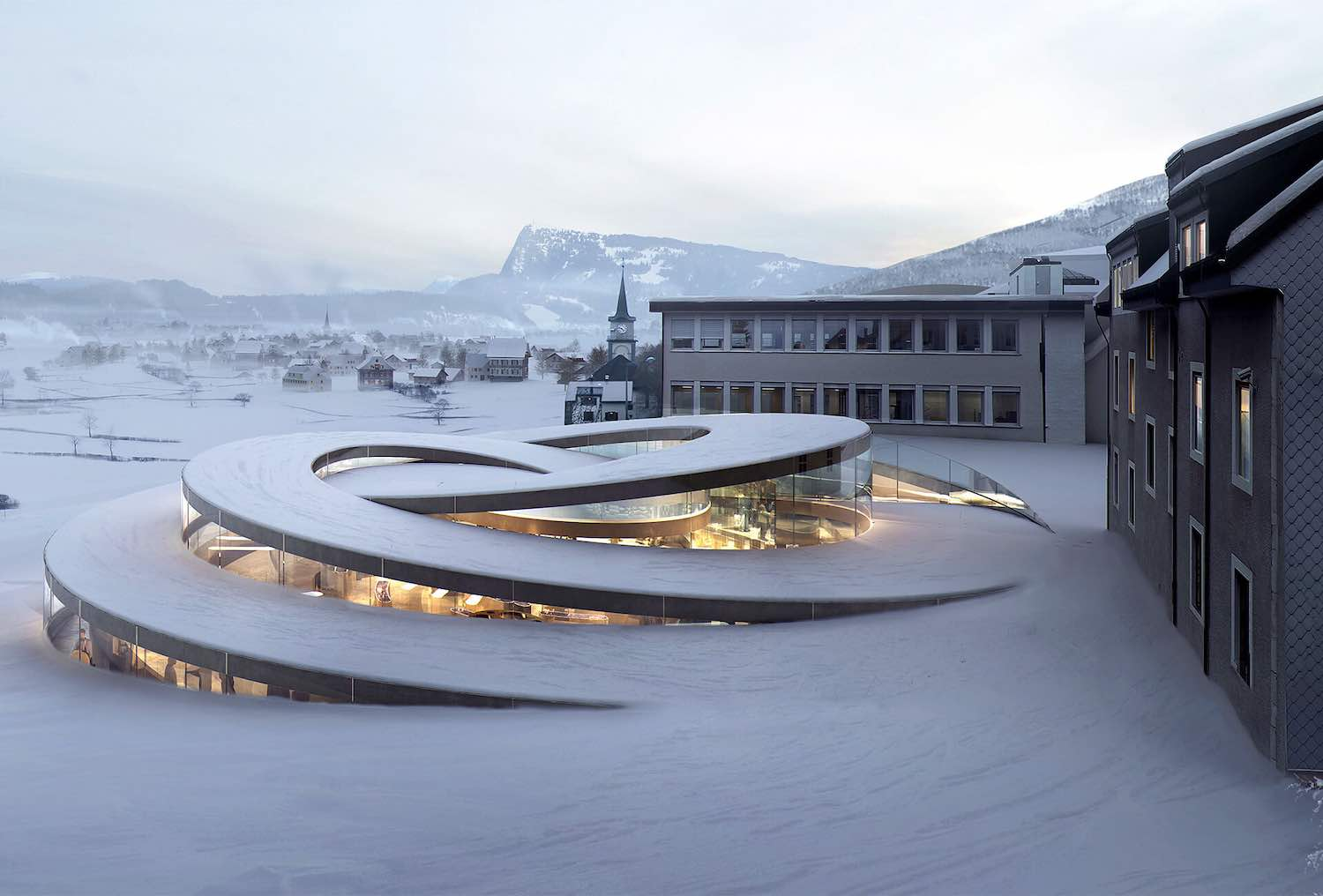 Ateiler Audemars Piguet Museum - Courtesy of BIG, Bjarke Ingels Group.