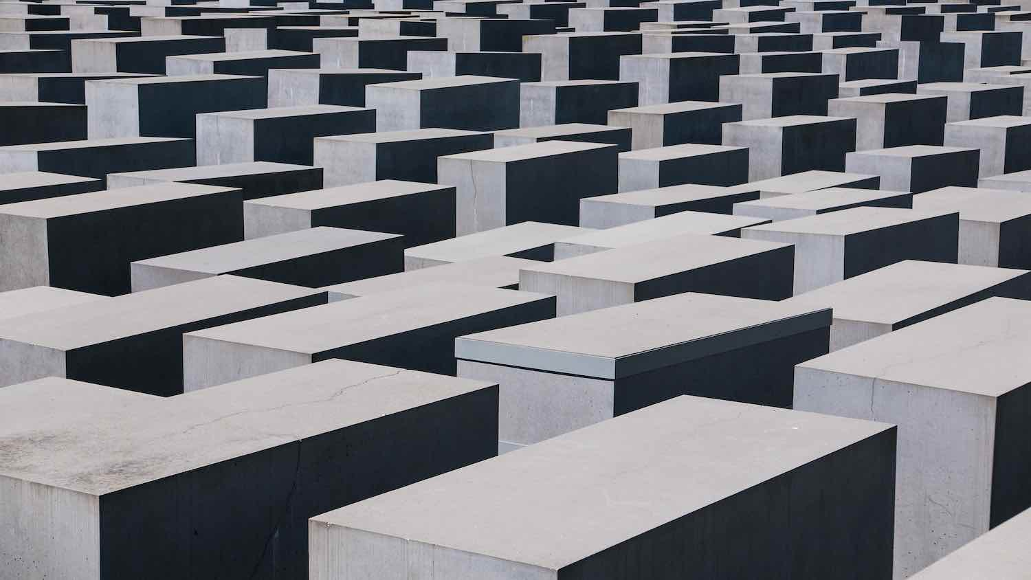It's no time to forget! Berlin Holocaust Memorial - Photo by Wynand van Poortvliet.