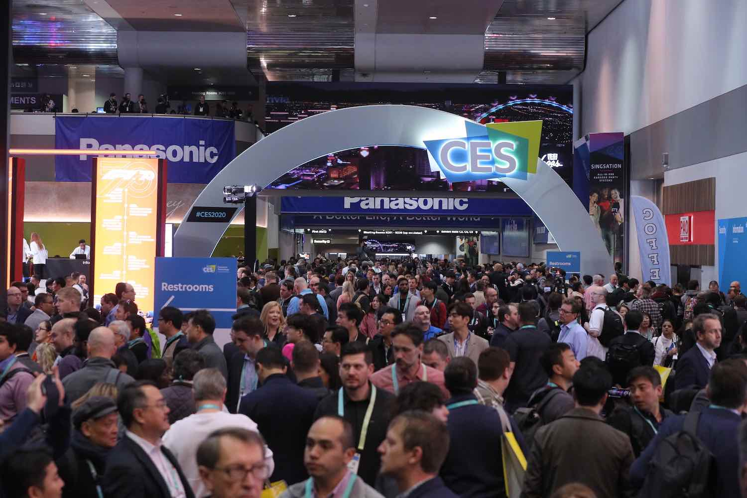 CES 2020, show opening arch - courtesy of CES.