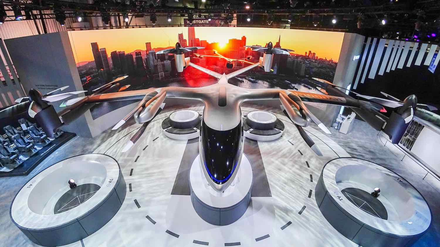 S-A1 aerial vehicle by Hyundai and Uber - Courtesy of Hyundai.