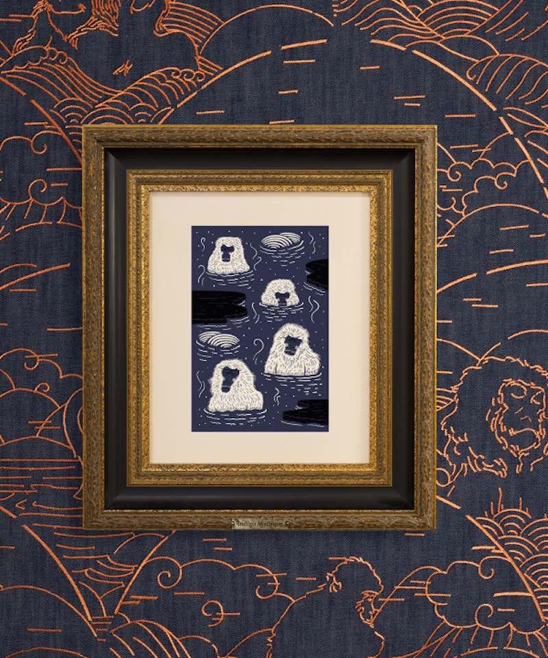 INDIGO MACAQUE wallpaper - Photo by Moooi.