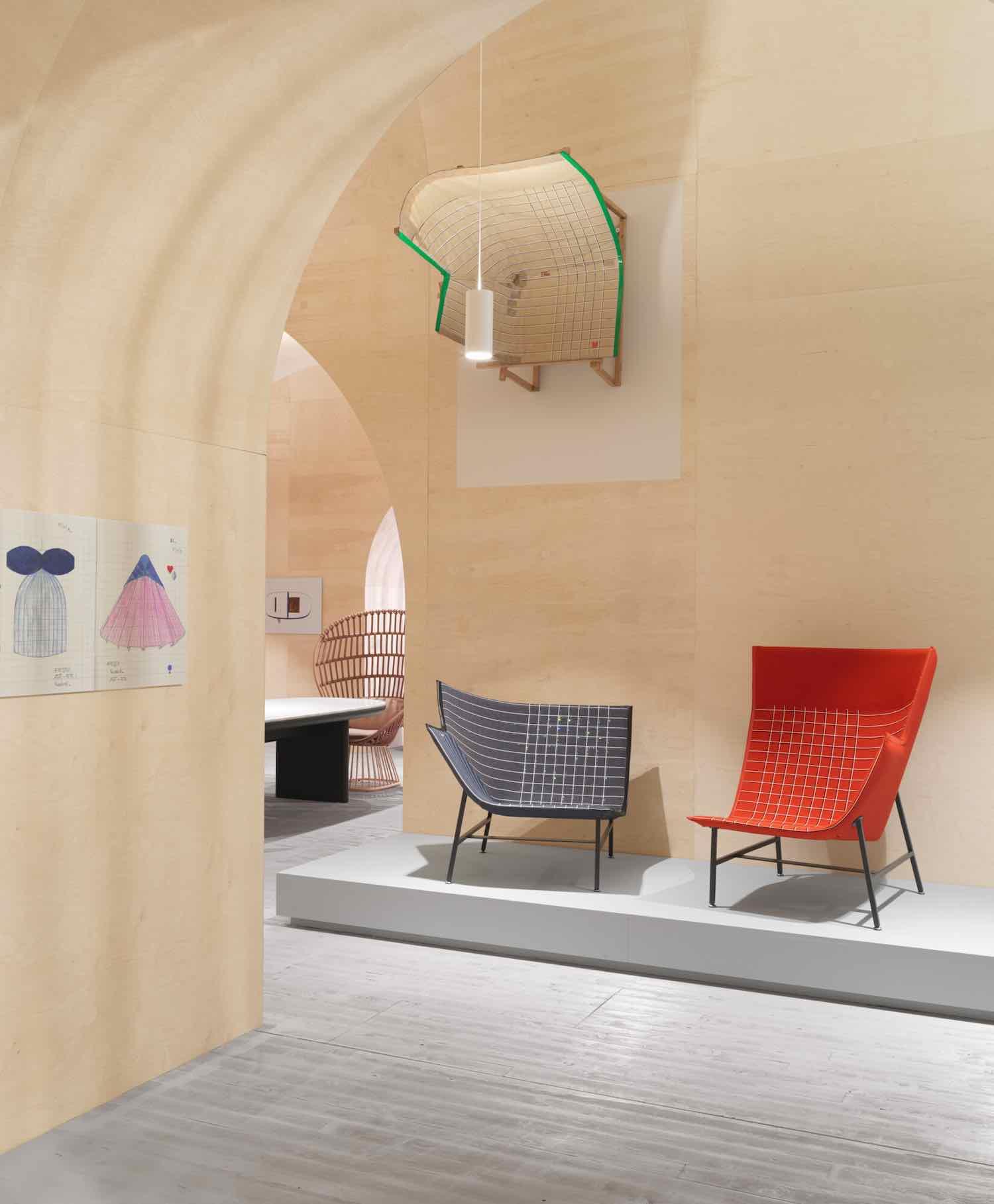 Labyrinthine pavilion by Doshi Levien @ Stockholm Furniture & Light Fair - Photo by Jonas Lindström.