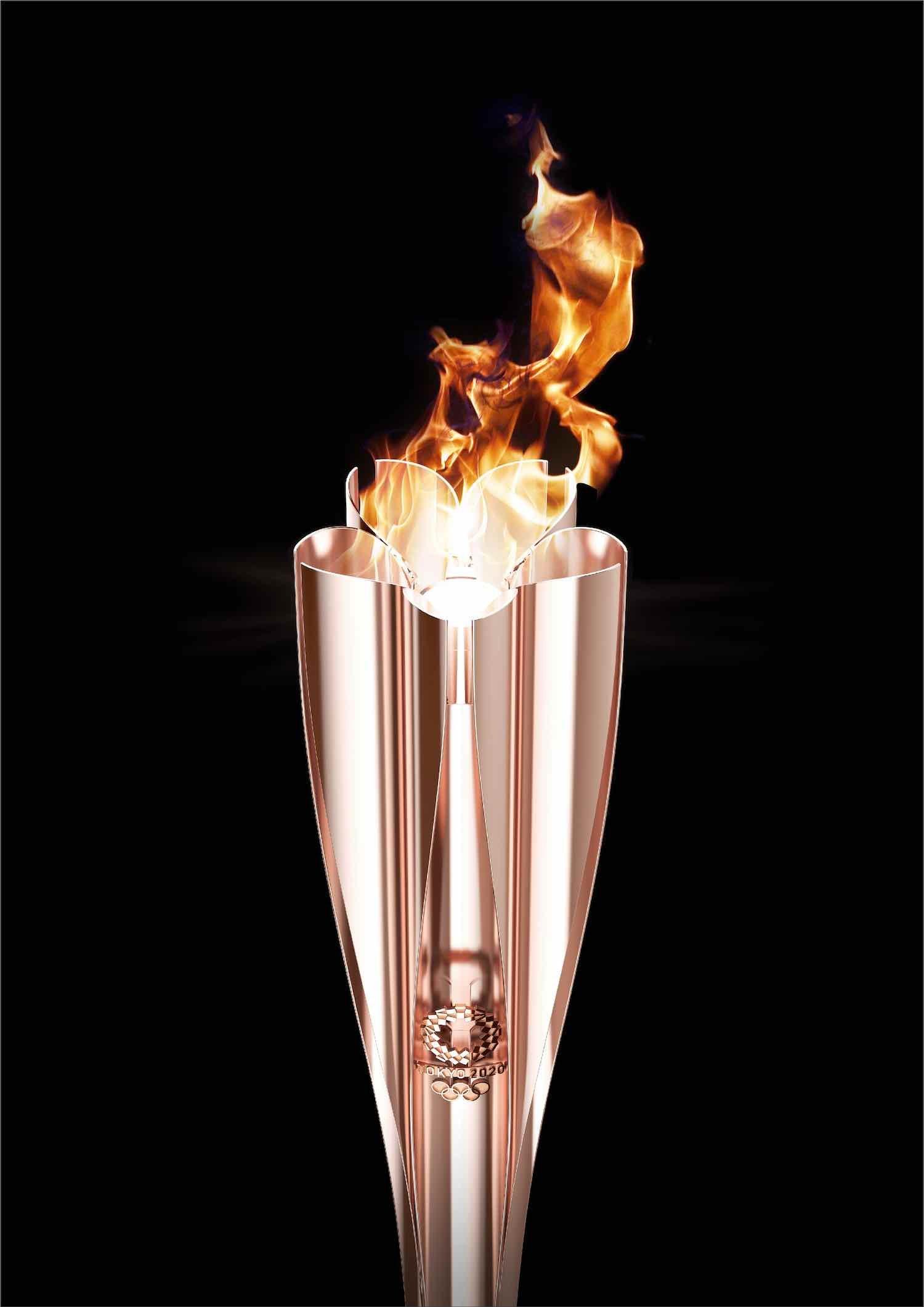 Tokyo 2020 Olympics' torch by Tokujin Yoshioka - Courtesy of Tokyo 2020 Olympics.