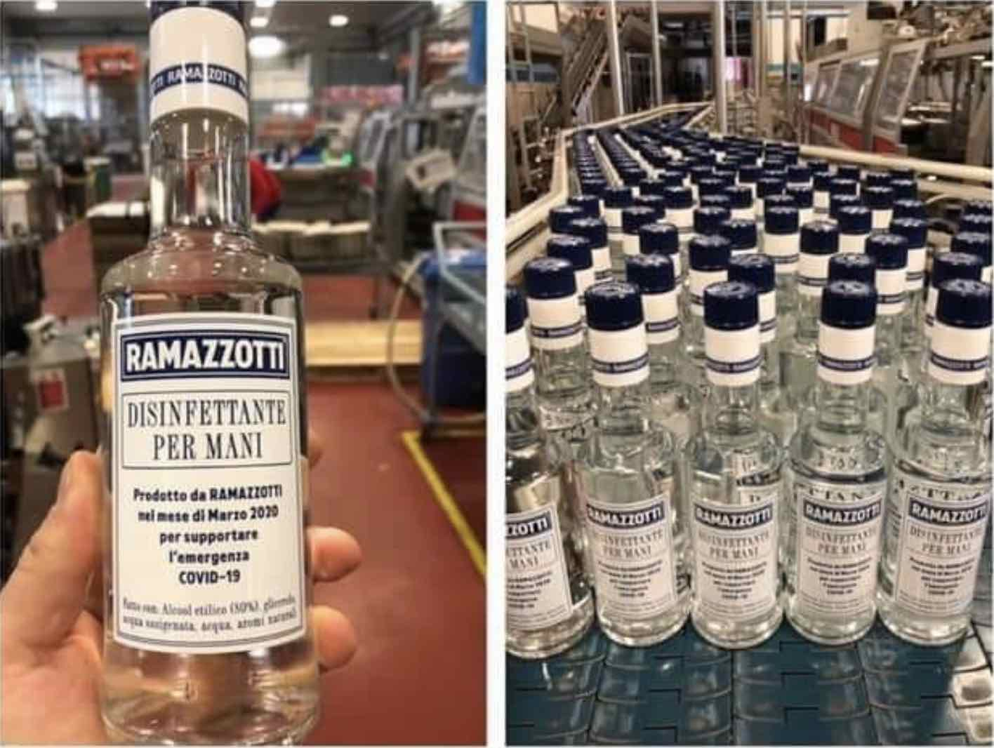Amaro Ramazzotti produces hand saniitizers