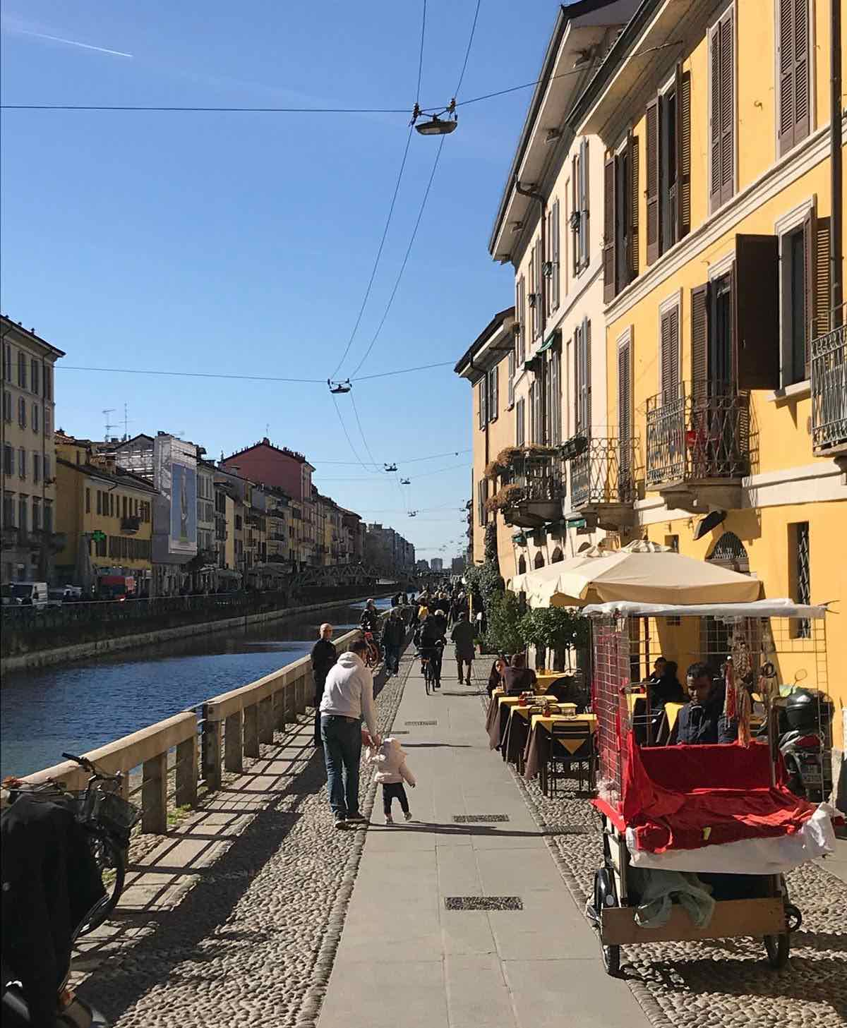 Navigli in Milan on Feb 29, 2020 . Photo by Enrico Zilli.