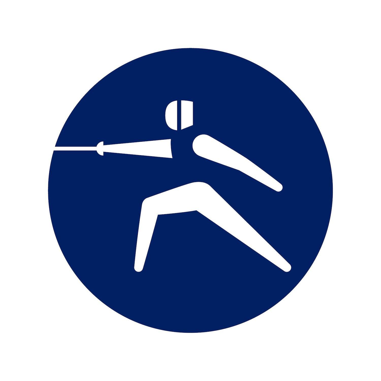 Tokyo 2020 Olympics' design. Fencing pictogram by Masasa Katzumie and Yoshiro Yamashita - Photo courtesy of Tokyo 2020 Olympics