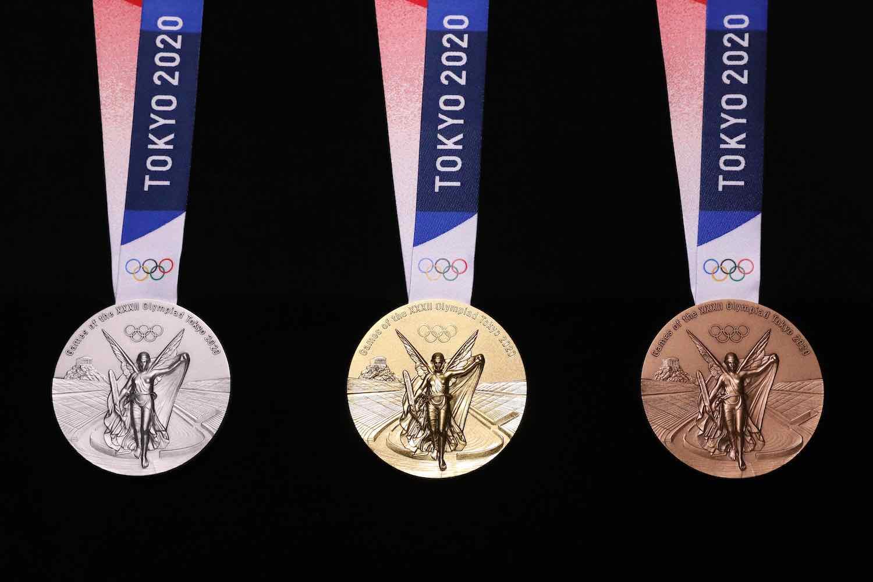 Tokyo 2020 Olympics medals by Junichi Kawanishi - Photo courtesy of Tokyo 2020 Olympics.