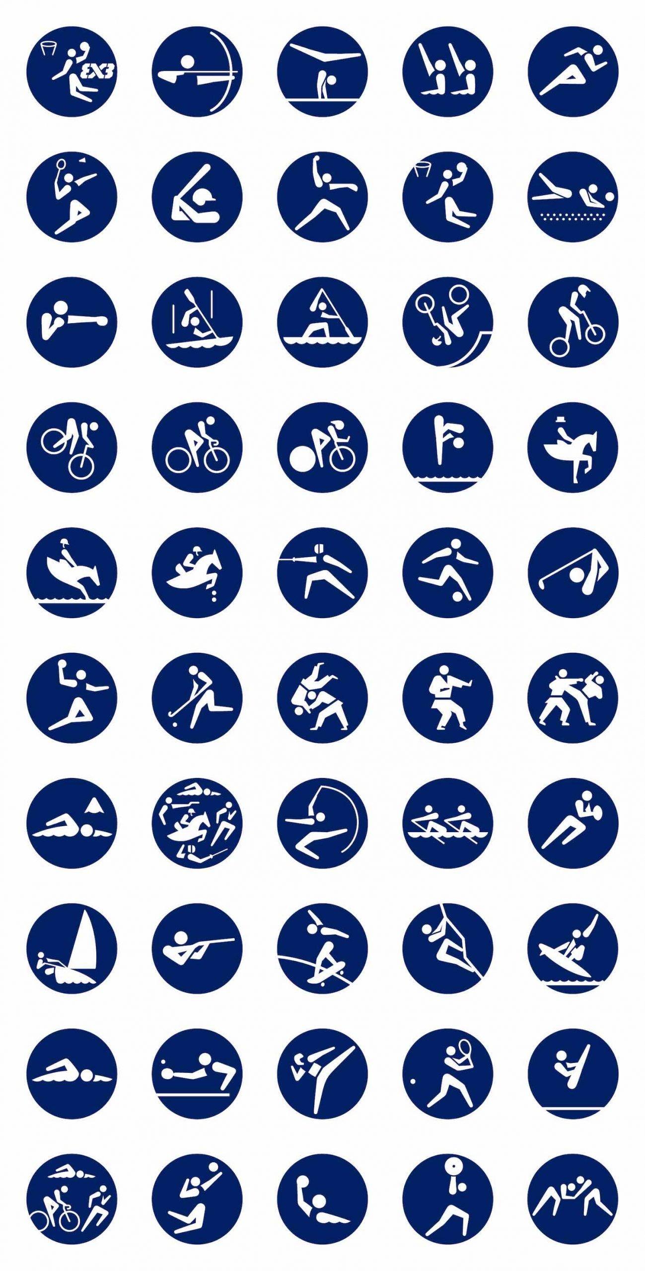 Tokyo 2020 Olympics' design. Pictograms by Masasa Katzumie and Yoshiro Yamashita - All photos: courtesy of Tokyo 2020 Olympics