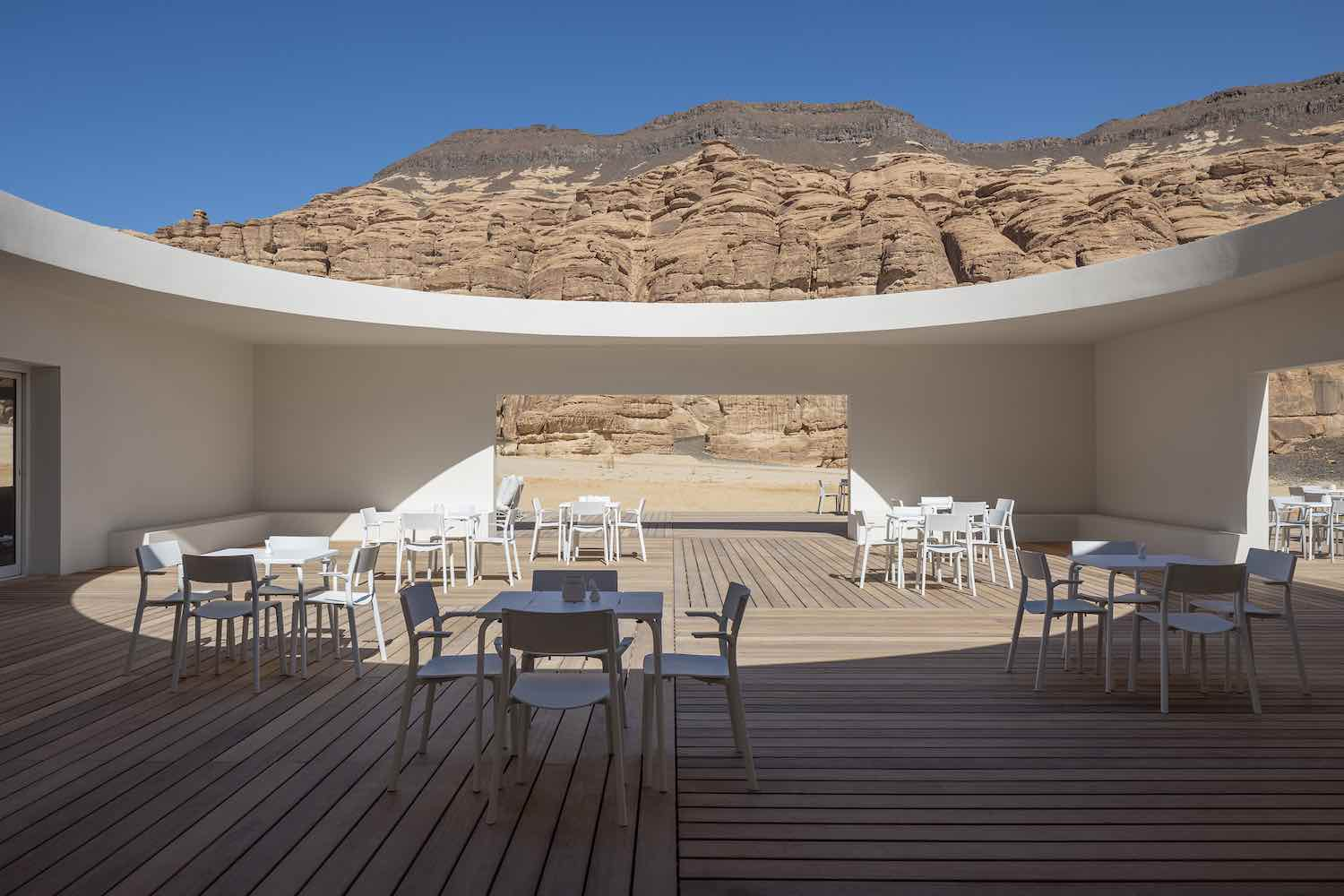 Desert X Al Ula Visitor Centre in Saudi Arabia by KWY.Studio - Photo by Colin Robertson.