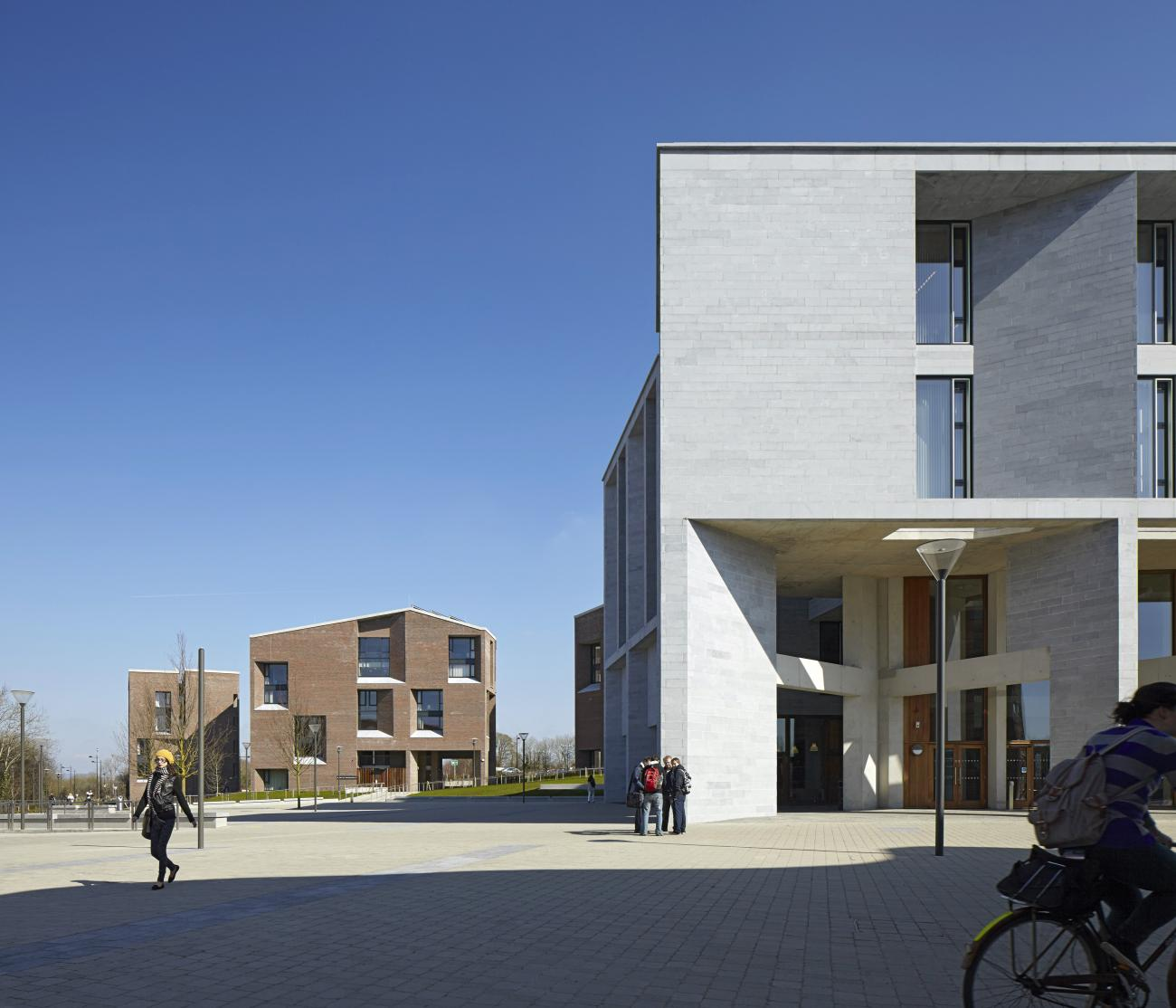 2020 Pritzker Prize goes to Yvonne Farrell and Shelley McNamara of Grafton Architects. Pictured: Medical School, University of Limerick - Photo courtesy of Dennis Gilbert.