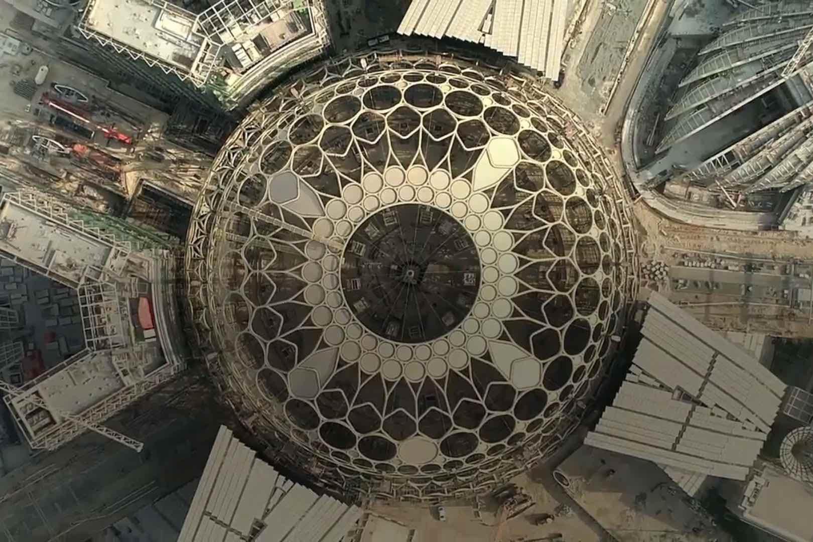 Expo 2021 Dubai - Construction site of the central dome