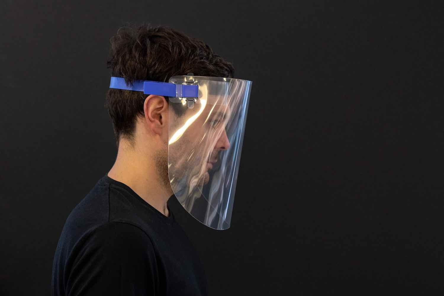 Foster+Partners' Face shield design prototype - Courtesy of Foster+Partners.