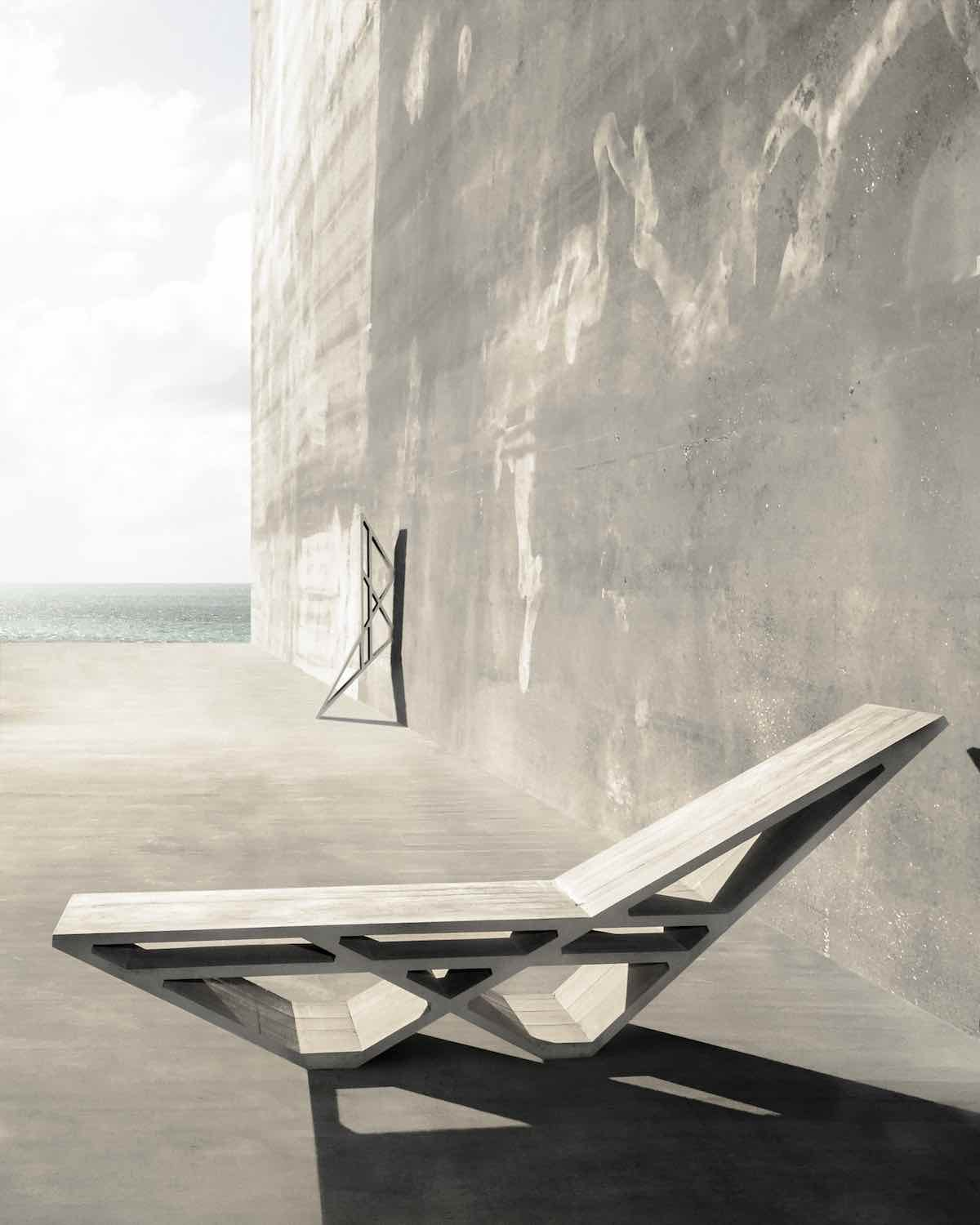 Chaise lounge by Thomas Musca and Duyi Han - Courtesy of the designers.