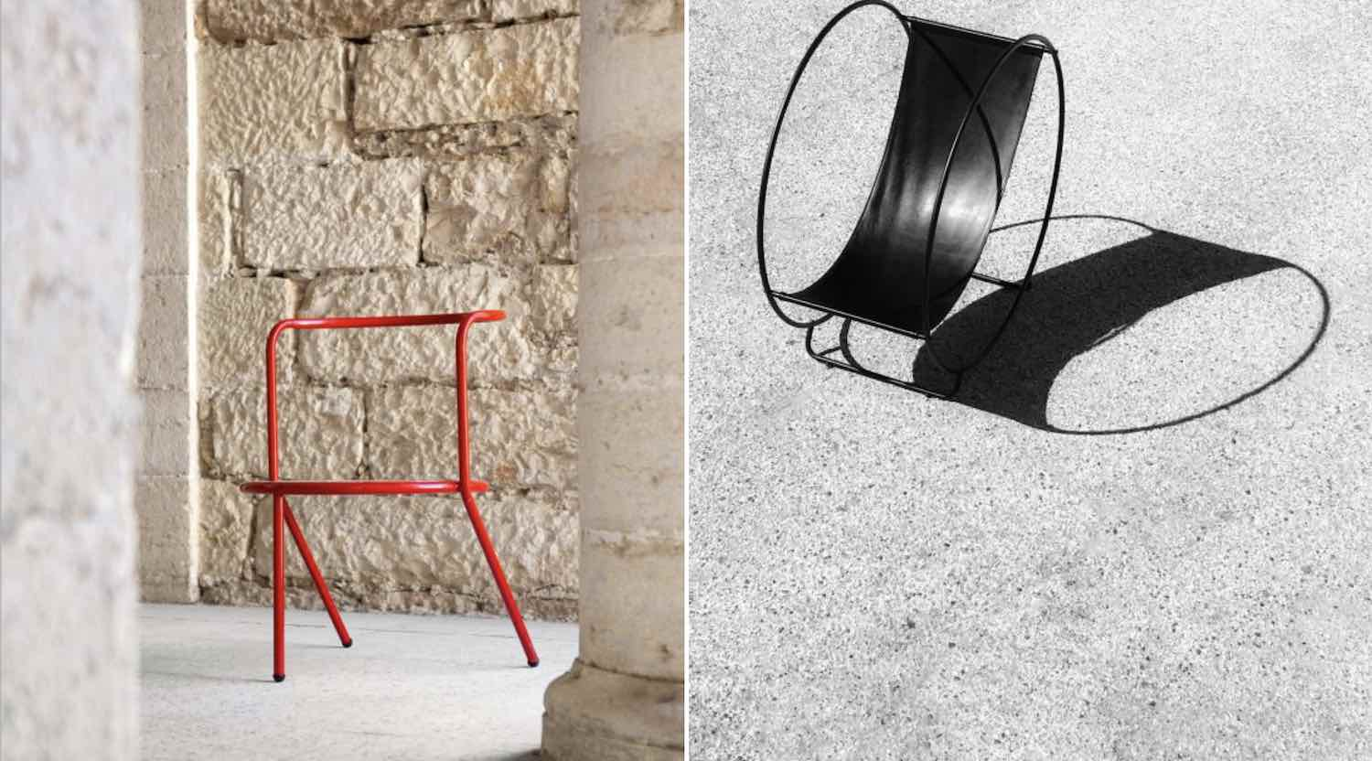 HERE AND THERE - A PALESTINIAN COLLECTION. 'Khalil' and 'Holanob' chairs by LOCAL INDUSTRIES - Courtesy of ADRONO.