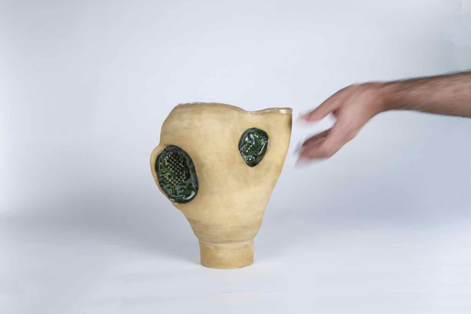 HERE AND THERE - A PALESTINIAN COLLECTION. 'Spool vase' by FAISSAL El-Malak - Courtesy of ADORNO.