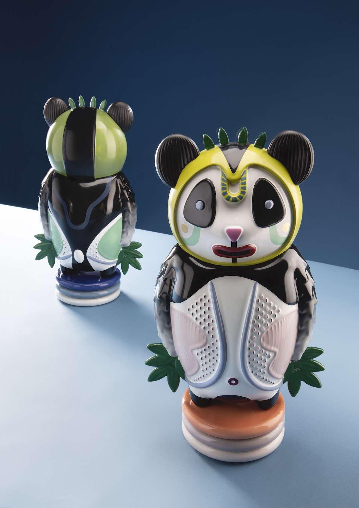 Bernardo panda bear sculpture by Elena Salmistraro x Bosa Ceramiche - Courtesy of Elena Salmistraro.