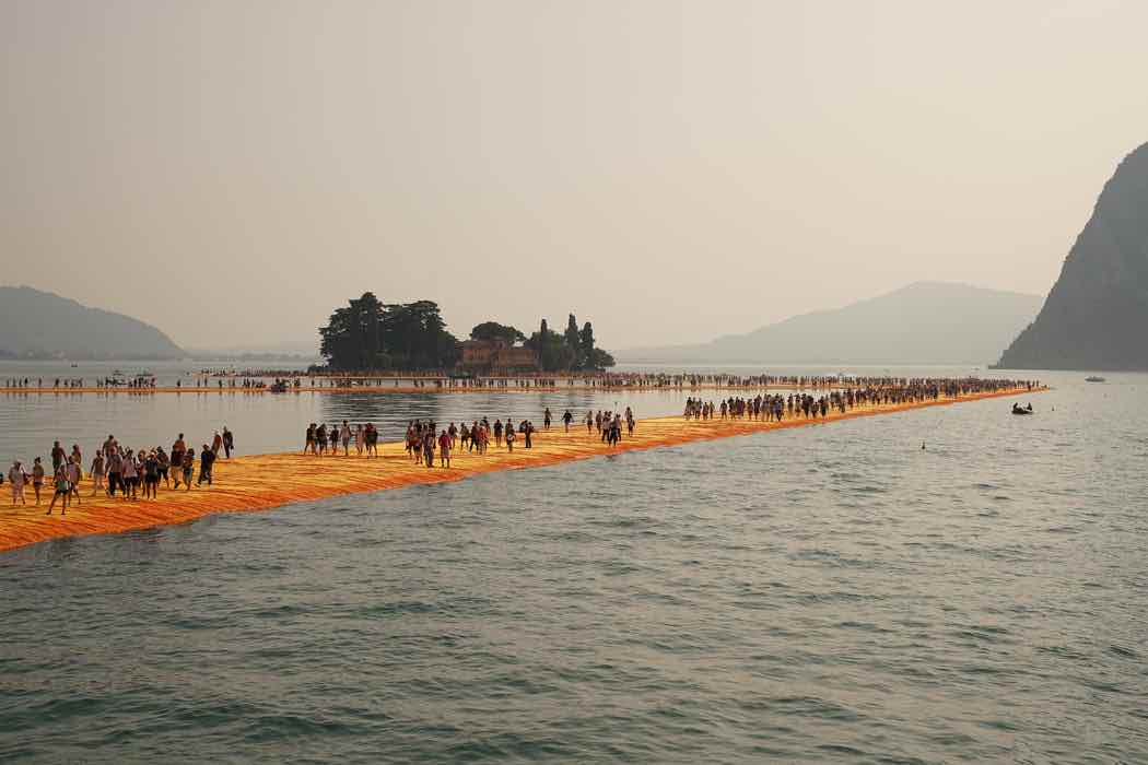 The Floating Piers, Lake Iseo 2016 - Photo by Wolfgang Volz ©Christo and Jean-Claude