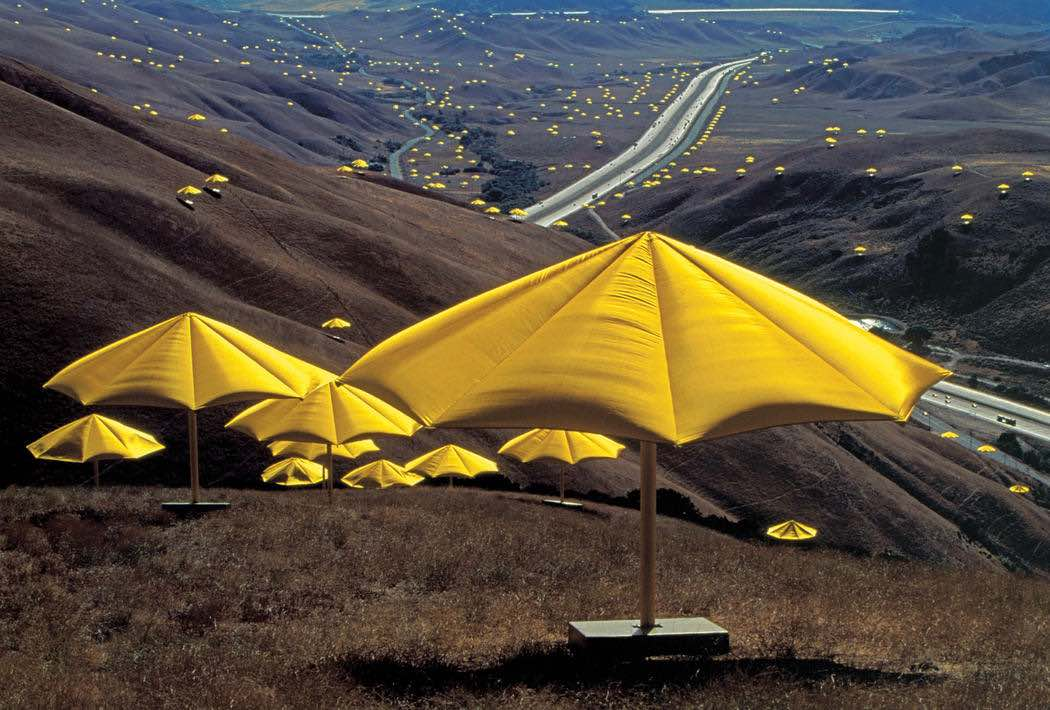 The Umbrellas, Los Angeles 1991 - Photo by Wolfgang Volz ©Christo and Jean-Claude
