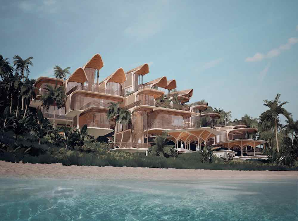 Roatán Próspera Residences by Zaha Hadid Architects with AKT II and Hilson Moran Partnership - Image courtesy of Zaha Hadid Architects.