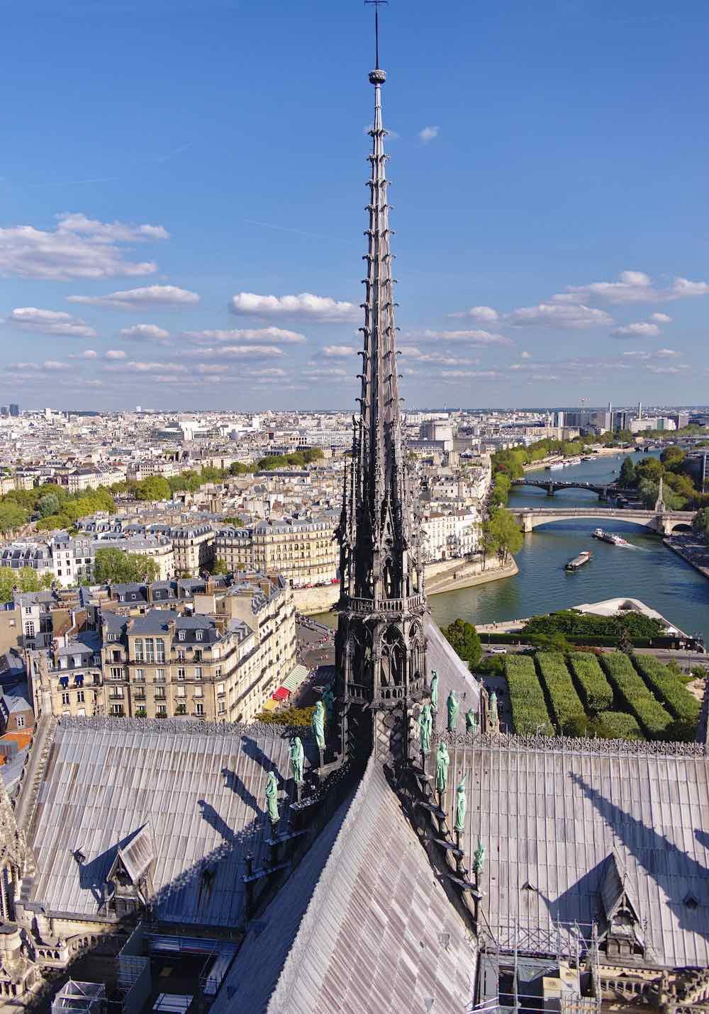 Notre Dame de Paris' spire - Wikimedia.