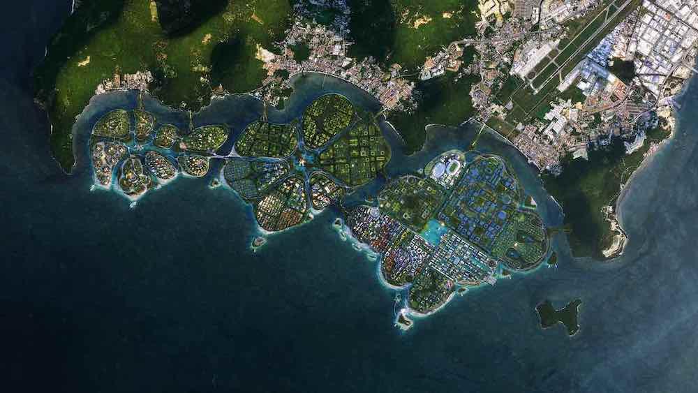 BIODIVERCITY masterlan for Penang south islands, Malaysia, by BIG Bjarke Ingels Group, Ramboll and Hijjas - image by BIG.
