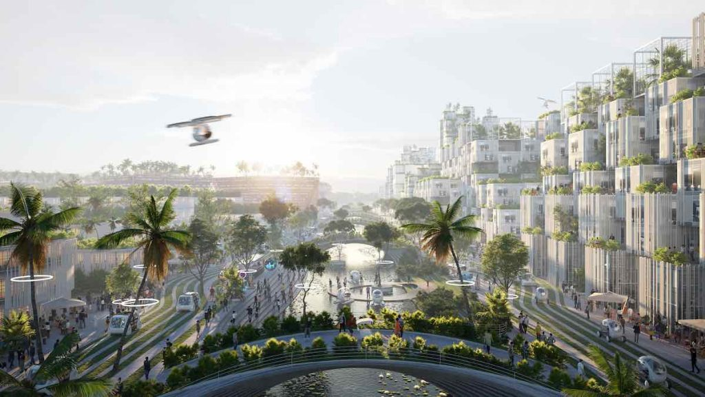 BIODIVERCITY masterlan for Penang south islands, Malaysia, by BIG Bjarke Ingels Group, Ramboll and Hijjas - image by BIG.