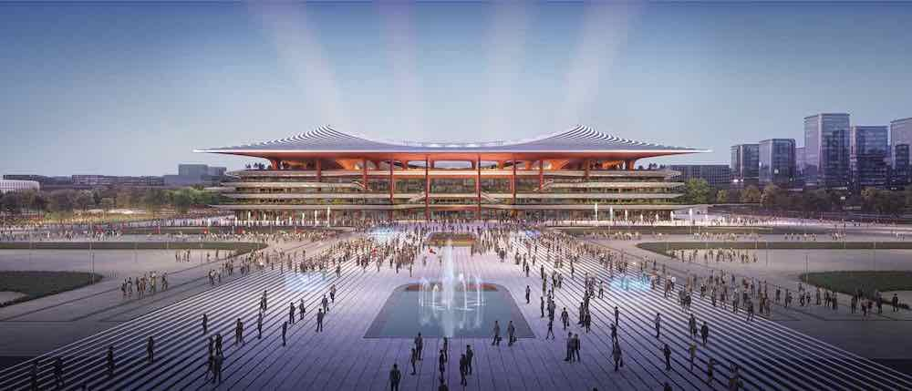 Zaha Hadid Architects's Xi'an International Football Centre - Image by Zaha Hadid Architects.