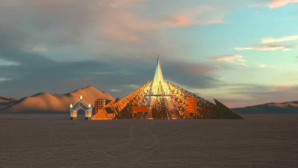 EMPYREAN TEMPLE by Laurence Verbeck and Sylvia Adrienne Lisse @ Burning Man - Image by by Laurence Verbeck and Sylvia Adrienne Lisse.