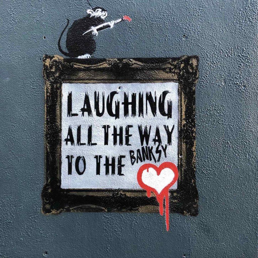 Banksy in Temple Bar.