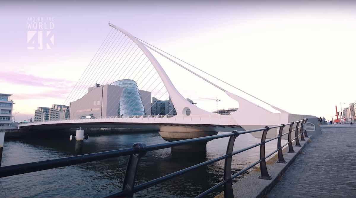 Samuel Beckett Bridge - Frame by YT Aroundtheworlin4k.