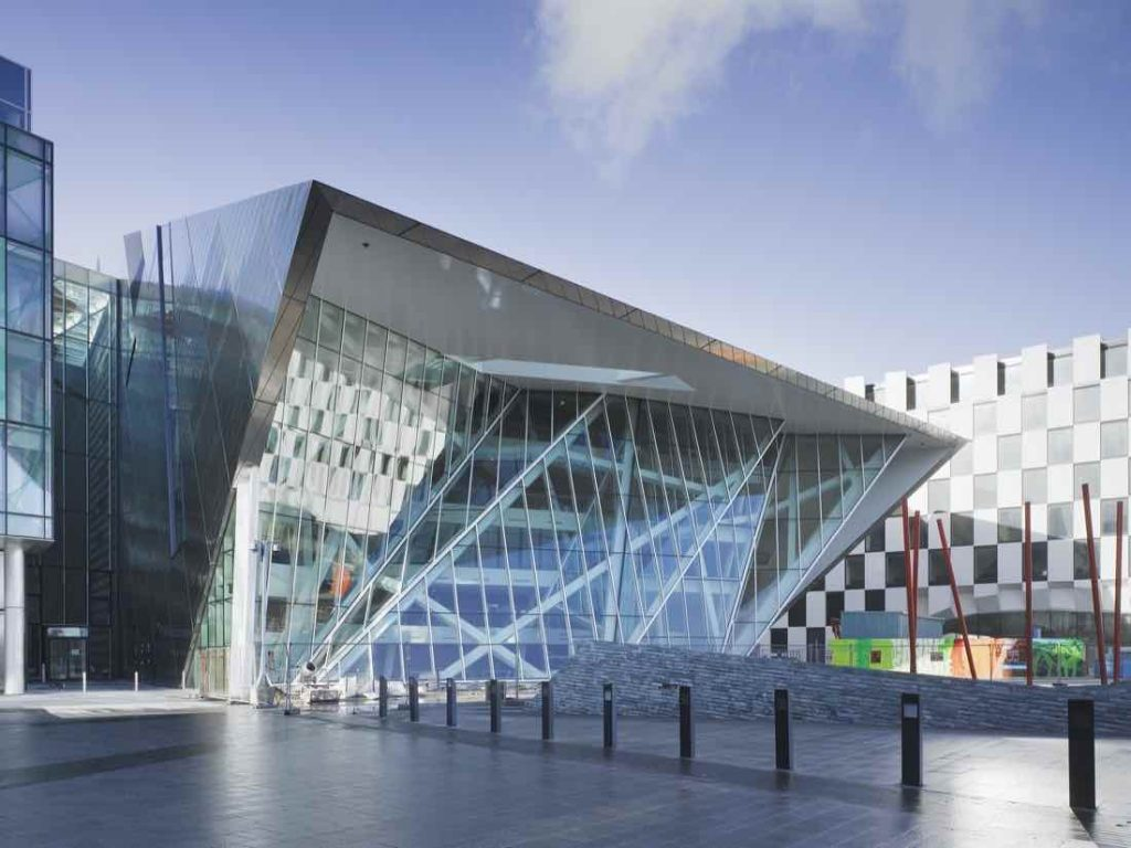 Grand Canal Theatre by Daniel Libeskind - Photo by Ross Kavanagh.