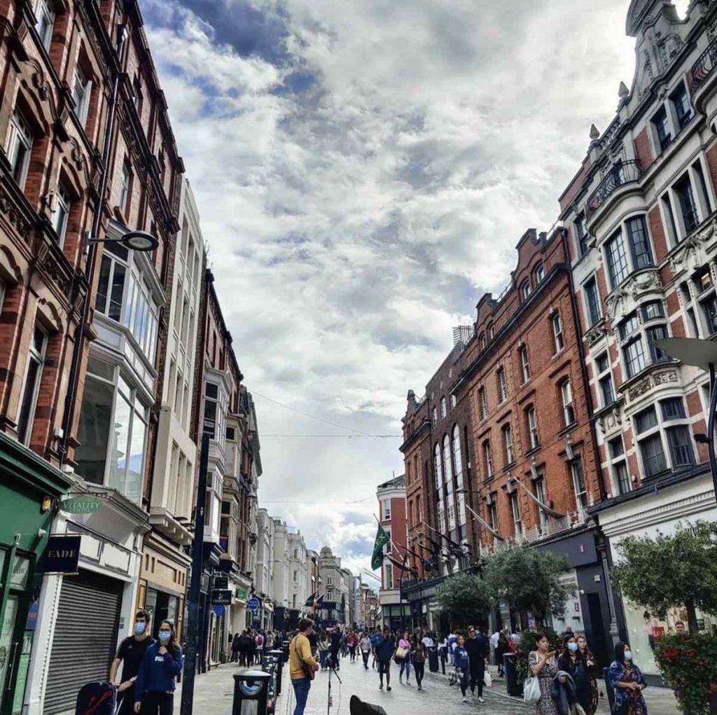 Grafton Street, Dublin - Photo via IG by @atravelerhasnoname