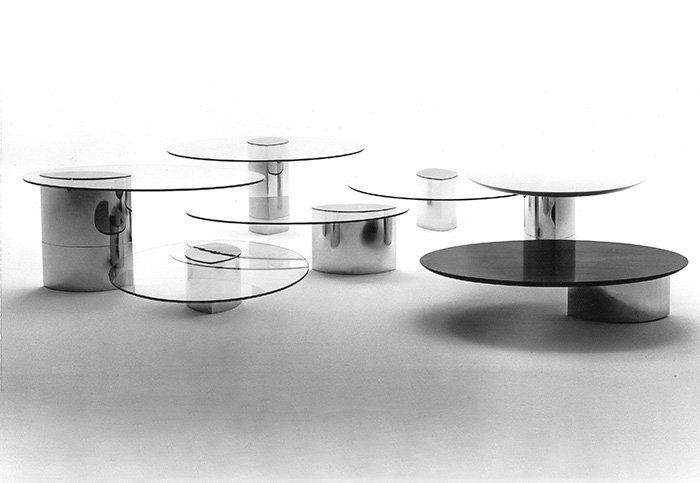 LUNARO tables by Cini Boeri - Courtesy of Cini Boeri Architetti.