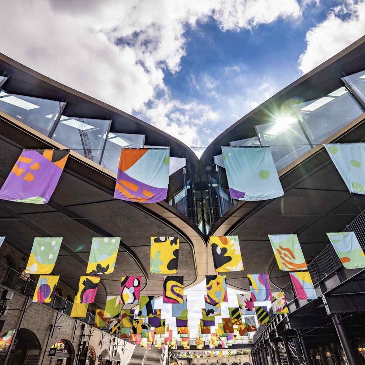 PATTERN PORTRAITS by Lauren Godfrey @ Coal Drops Yard - Photo via IG by @l_d_f_official