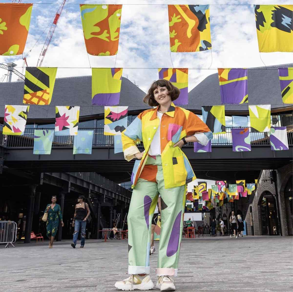 PATTERN PORTRAITS by Lauren Godfrey @ Coal Drops Yard - via @laurengodders. IG, photo by John Sturrock.