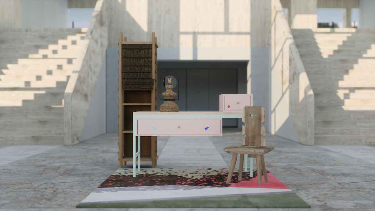 Romania pavilion at THE NEW REALITY group virtual exhibition by ADORNO - Image: courtesy of ADORNO Gallery.