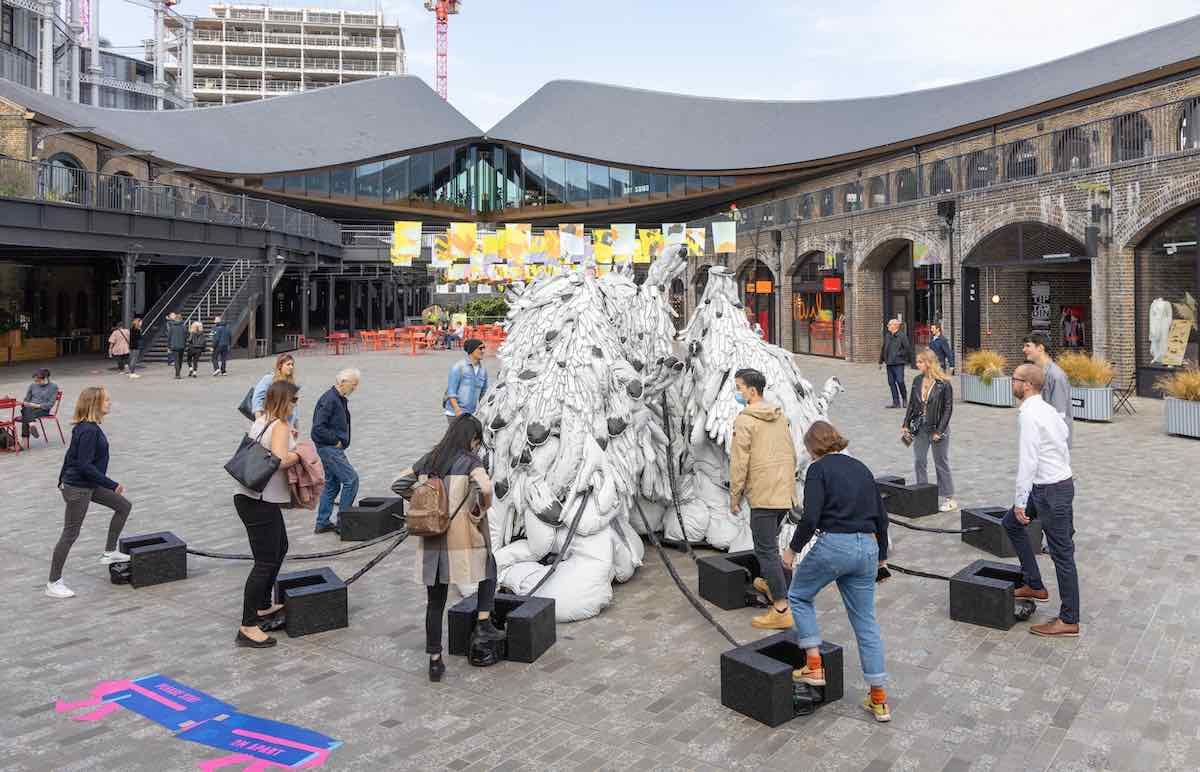 UNITY by Marlene Huissoud in Coal Drops Yard, King's Cross - Courtesy of London Design Festival 2020.