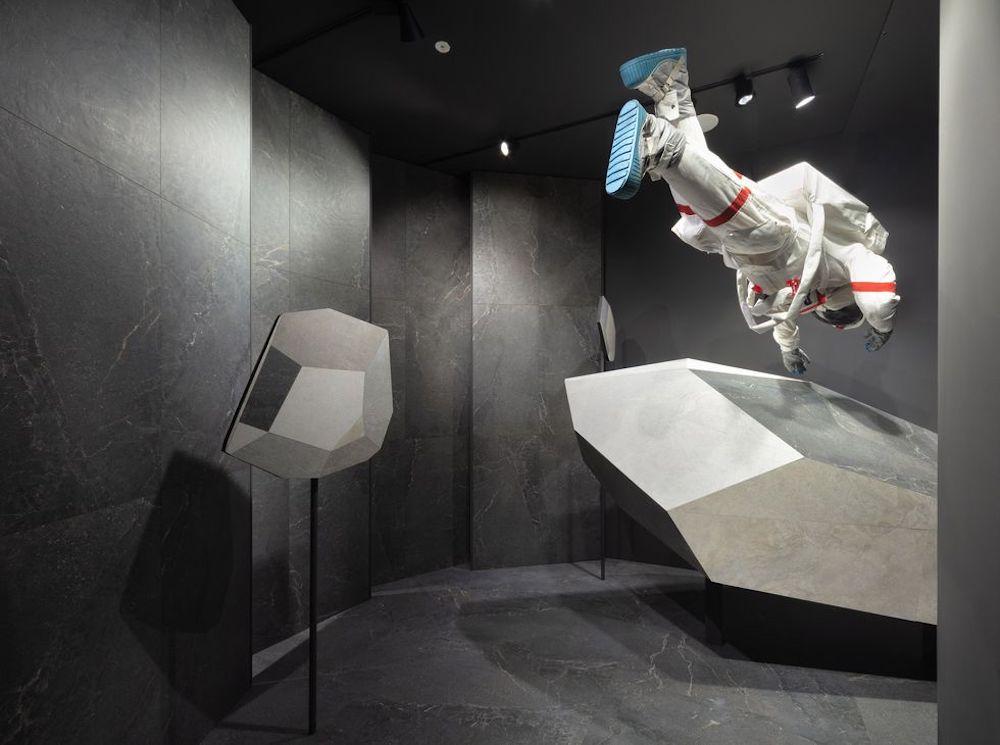 Milano Design City. ANTOLOGY installation by Ferruccio Laviani @ Lea Ceramiche showroom - Courtesy Lea Ceramiche, ph. by Alessandro Nassiri.