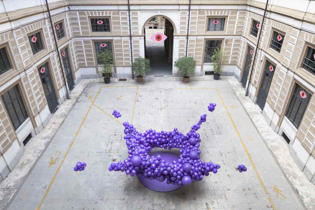 NO SIGNAL ZONE installation by Sara Ricciardi @ Milano Design City 2020 - Photo by Amir Farzad, courtesy of Sara Ricciardi.