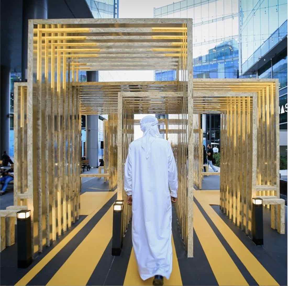 DubaiDesignWeek2020. Deterministic Path Exhibition - Photo via IG by @dubaidesignweek