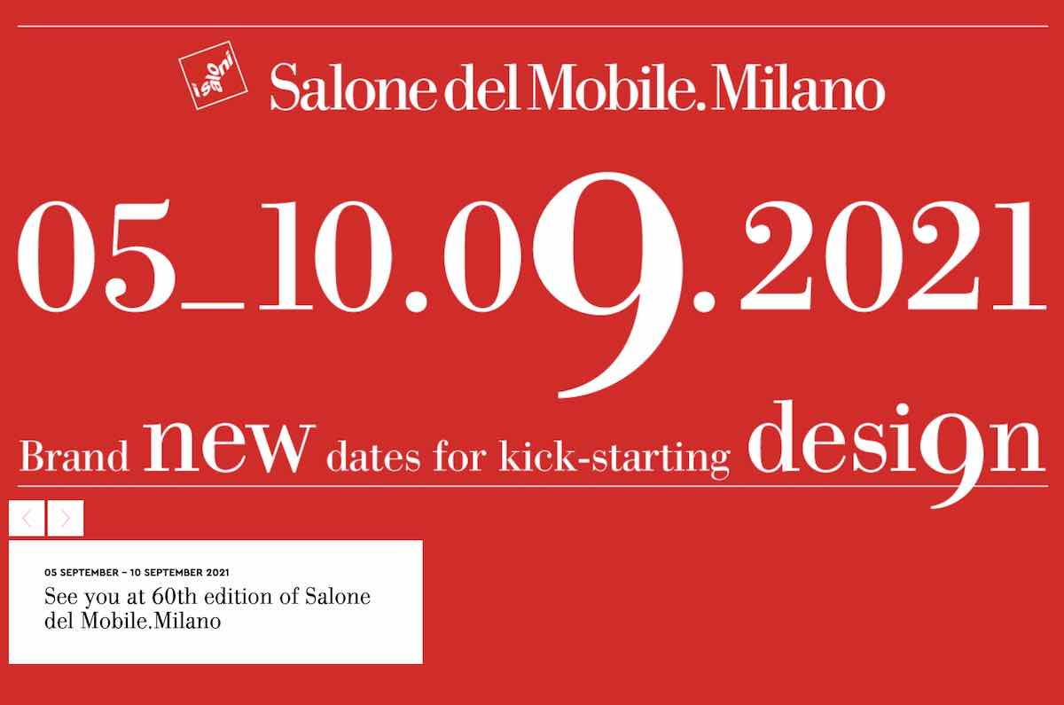 Salone del Mobile postponed to Sept 2021