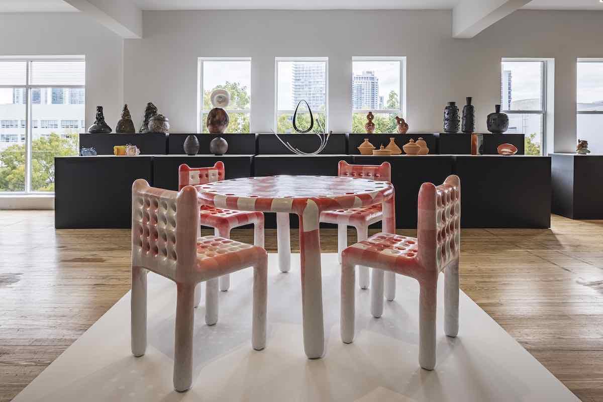 DesignMiami 2020 -Thomas Barger's furniture @ DesignMIami Podium - Photo by Kris Tamburello.