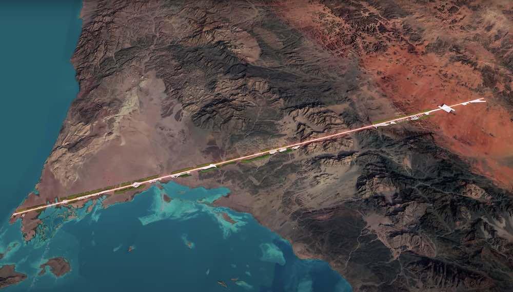 THE LINE project @NEOM, Saudi Arabia.