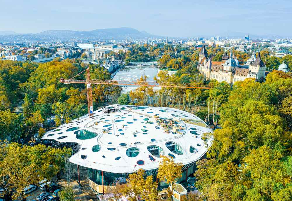 House of Hungarian Music by Sou Fujimoto is nearing complexion - Photo by Liget Budapest Project