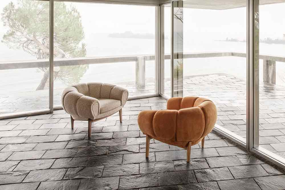 Croissant Lounge Chair by Illum Wikkelso x Gubi - Photo by Gubi.