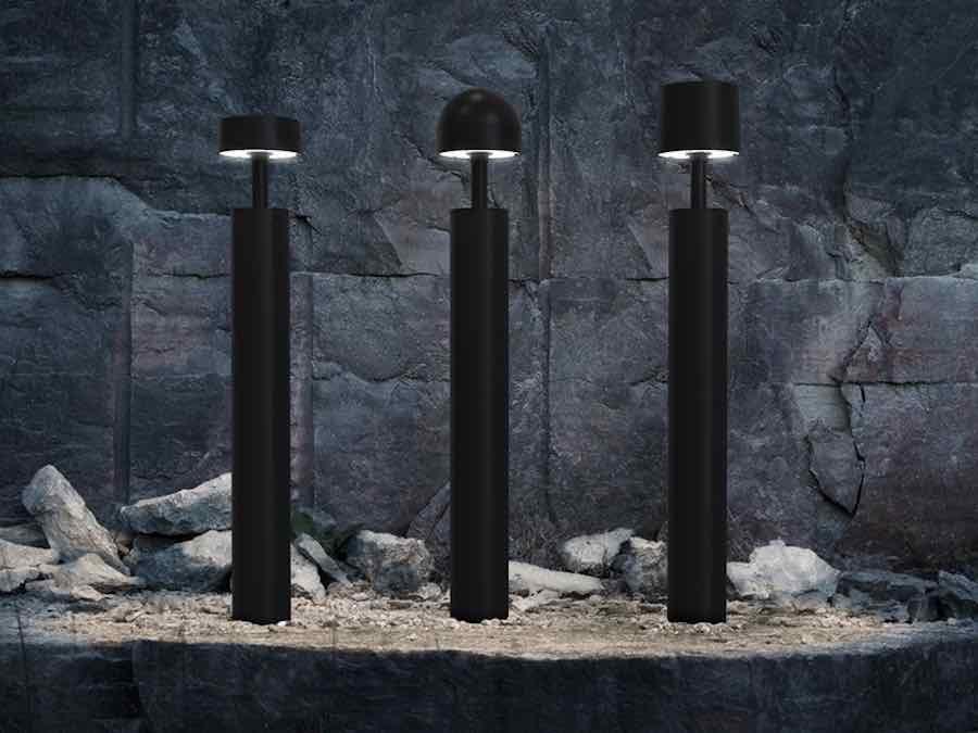 Plant lamp in corten by Design Studio Bernstrand Zero Lighting.