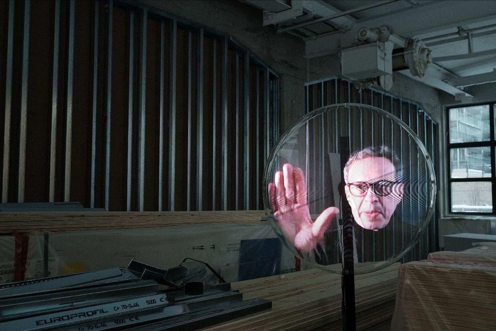 Tom Dixon @ Stockholm Design Week as a hologram - Image by Tom Dixon