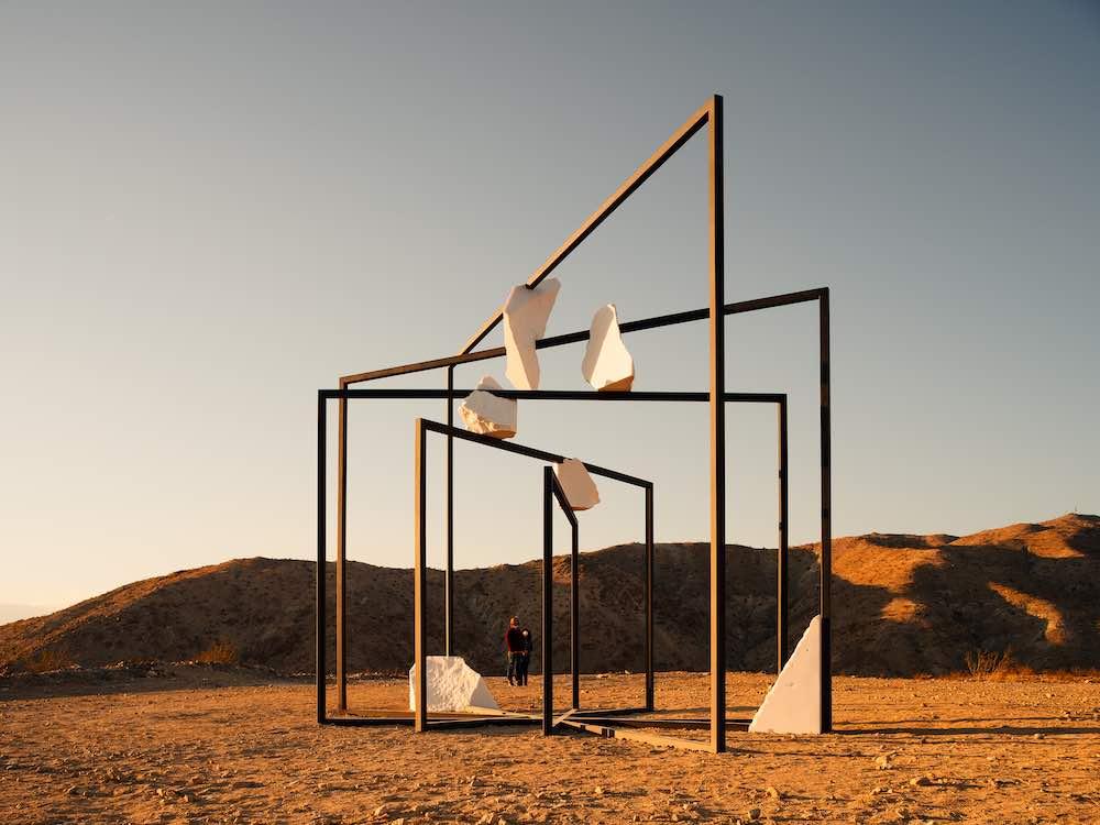 Alicja Kwade @ Desert X 2021 - Photo by Lance Gerber.