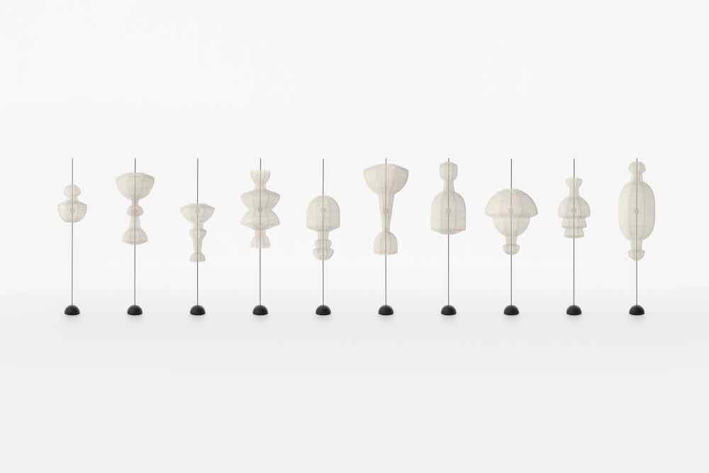 HYOURI lanterns collection by Nendo - Photo by Hiroshi Iwasaki.