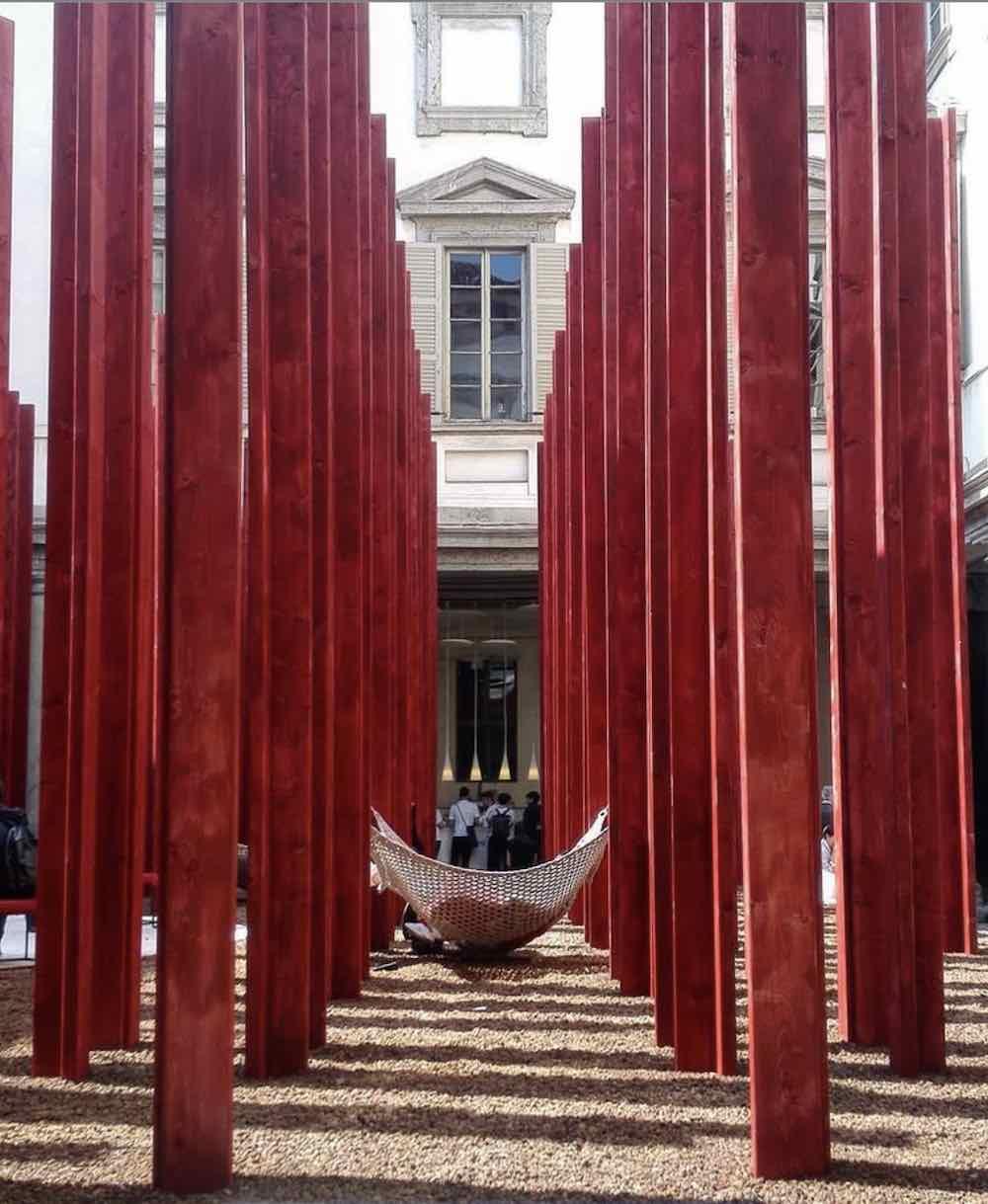 Asif Khan's installation at Palazzo Litta, Fuorisalone 2018 - Photo via IG via @reb_elle